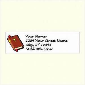 personalized christian return address labels choose your With christian address labels