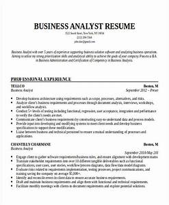 entry level business analyst resume template business With business analyst resume