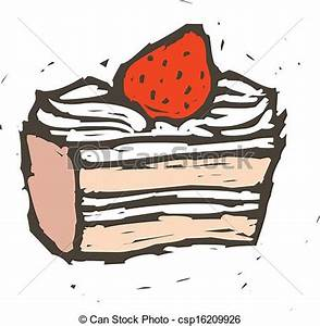 Vector Illustration of A piece of cake csp16209926 ...