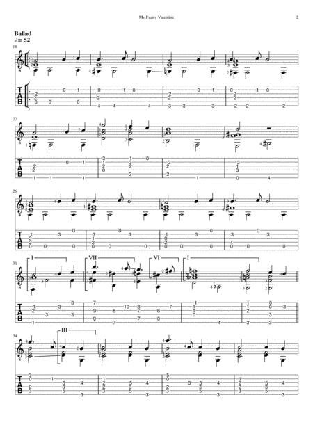 My Funny Valentine (Standard Notation And TAB) By Elvis