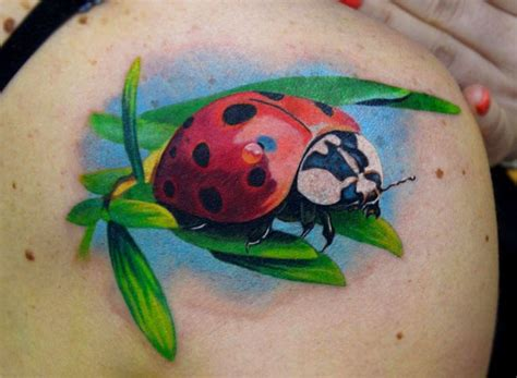 beautiful ladybug tattoos  lovely meanings tattoos win