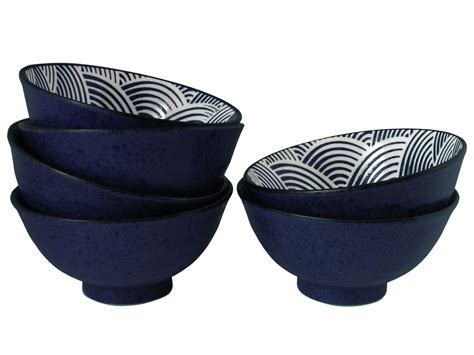 kitchen canisters set modern blue and white japanese wave japanese bowls set for six