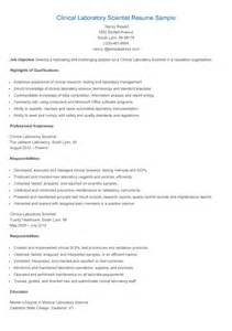 Laboratory Resume Objective by Resume Sles Clinical Laboratory Scientist Resume Sle