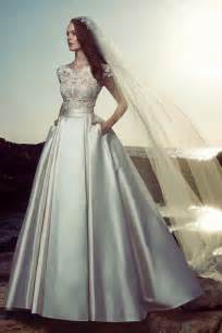 High quality embroidery with beads bride dress vestido de novia sex see through bridal gown formal Zuhair Murad wedding dresses