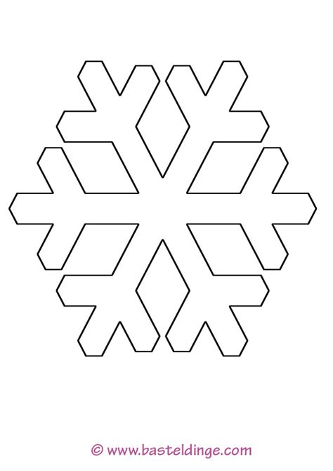 verschiedene schneeflocken vorlagen basteldinge