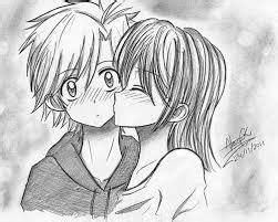 imagenes para dibujar de enamorados de anime Buscar con