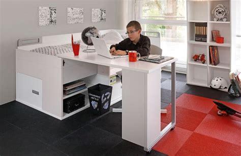 lit bureau gautier lit adolescent pas cher avec rangements et bureau gautier