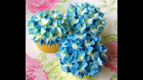 buttercream hydrangea cupcake tutorial youtube