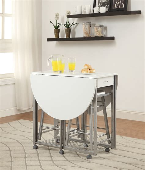 pc counter height dining set table   drop