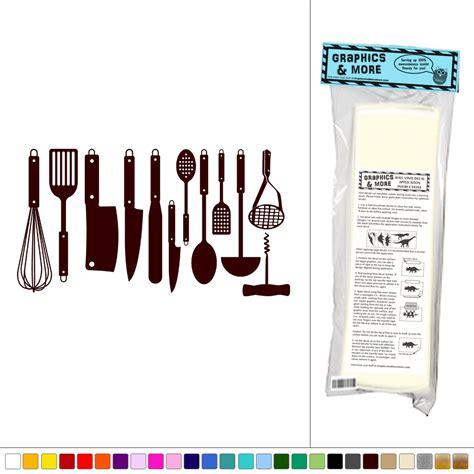 Kitchen Decor Vinyl by Set Of Kitchen Utensils Vinyl Sticker Decal Wall