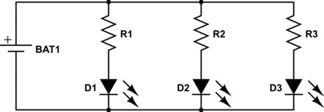 Connecting Resistor Led Parallel Circuit Electrical