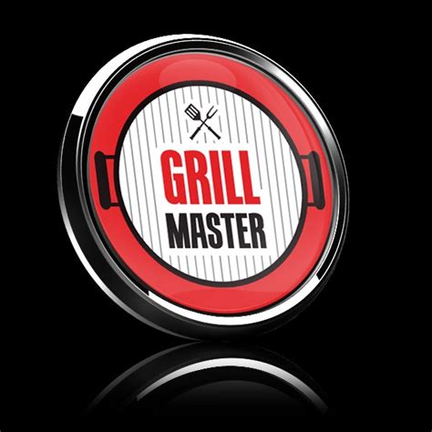 grill master badge dome gobadges