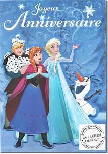 Joyeux Anniversaire Reine Des Neiges : carte anniversaire disney reine des neiges livraison ~ Melissatoandfro.com Idées de Décoration