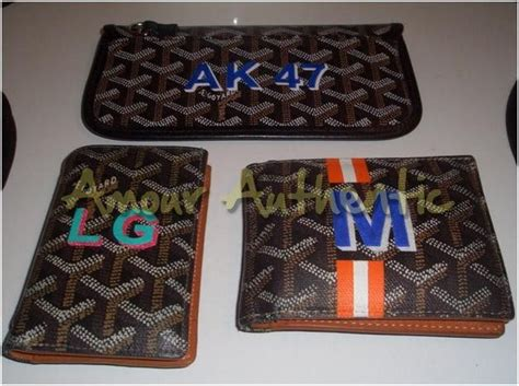 goyard personalized customization library purseforum