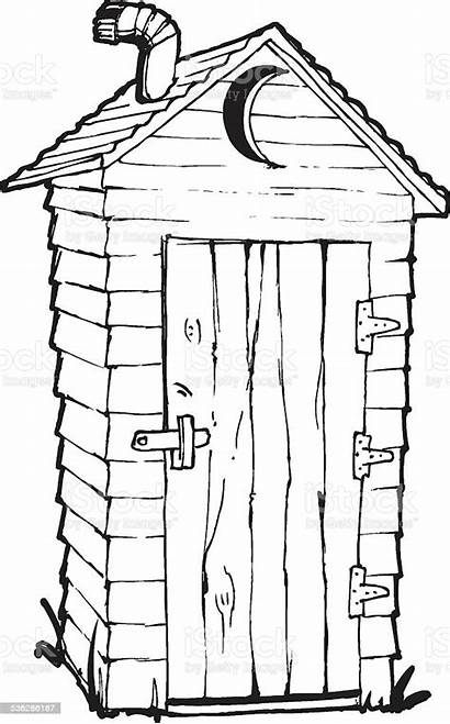 Outhouse Vector Illustration Clip Illustrations Bathroom Farm