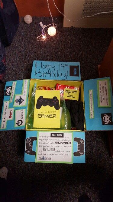 gamer care package  images diy gifts  boyfriend