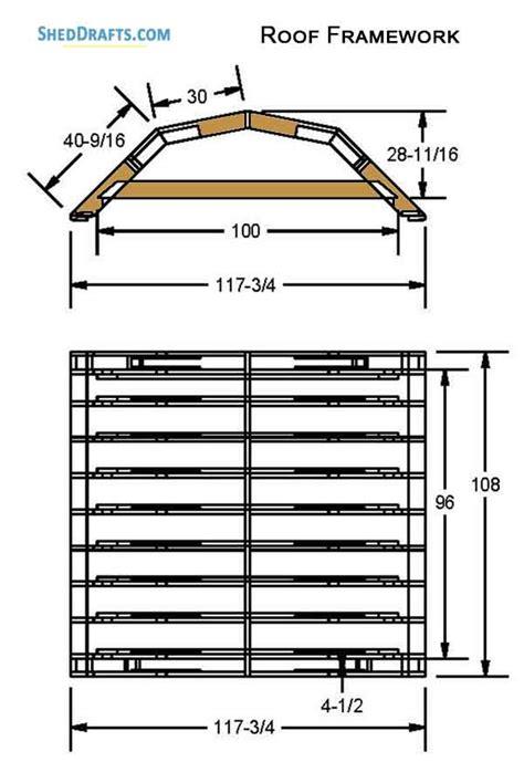 gambrel storage shed plans blueprints  set