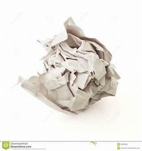 Boule En Papier : boule de papier grise chiffonn e au dessus du fond blanc photos stock image 30562963 ~ Teatrodelosmanantiales.com Idées de Décoration