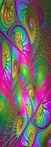 The, Colorful, Luminous, Modern, Abstract, Fractal, Art, Canvas
