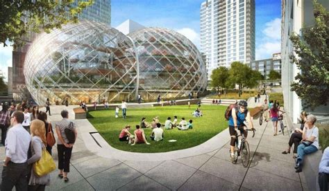 amazone bureau amazon soffre un siège social futuriste et écolo en bulles