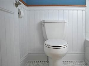 Bathroom how to install wainscoting bathroom faux for Installing wainscoting in bathroom