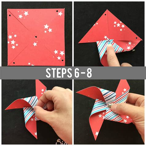 How To Make A Pinwheel With Paper Scraps Free Tutorial