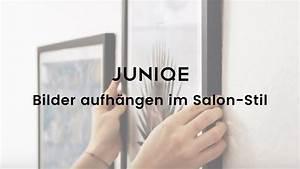 Fotos Schön Aufhängen : bilder aufh ngen im salon stil juniqe tutorial video ~ Lizthompson.info Haus und Dekorationen