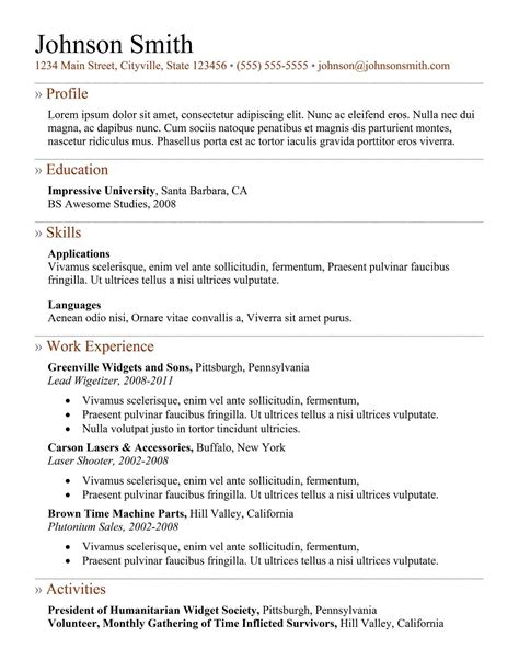 free resume templates editor sle of