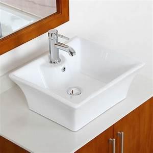 decorer la salle de bains avec un evier ceramique With salle de bain design avec evier céramique blanc