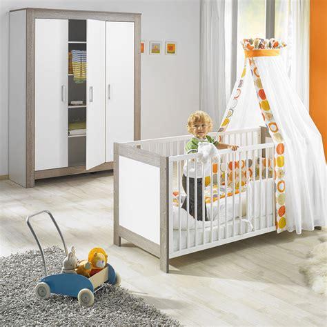chambre bebe but chambre bébé duo marléne lit et armoire 3 portes cérusé