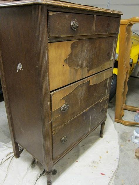 damaged dresser furniture