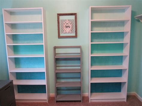 Painted Billy Bookcase by My Billy Bookcase Hack Ombre Blue With 3dollar Paint