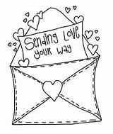 Valentine Envelope Clipart Cards Card Coloring Clip Valentines Pages Envelopes Stamps Mail Letter Digital Cre8tive Hands Doodle Primitive Cliparts Digi sketch template