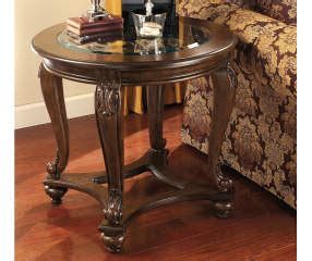 Coffee end table sets would be a great place to start when deciding to change the look of your living room. Signature Design By Ashley Norcastle Brown Round End Table   Big Lots