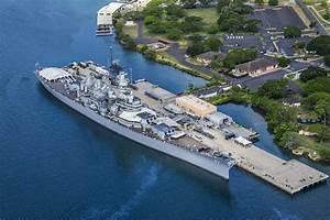 Battleships Of WWII Departing Waikiki Hotels Pearl Harbor Oahu