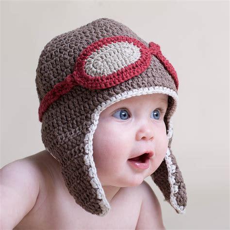 cat ear beret crochet baby aviator hat by attic