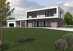 facade maison contemporaine maison moderne With plan facade maison moderne