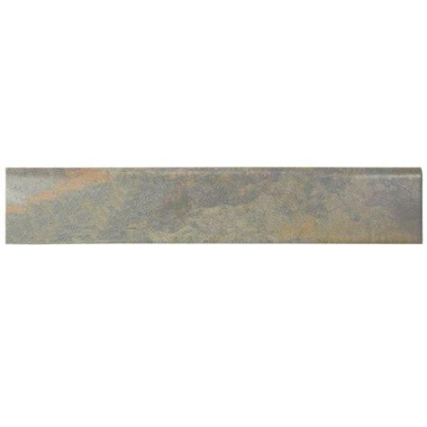 tile bullnose trim merola tile ardesia gris 3 1 8 in x 17 1 2 in porcelain bullnose floor and wall trim tile