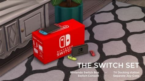 Nintendo SWITCH by littledica at Mod The Sims » Sims 4 Updates