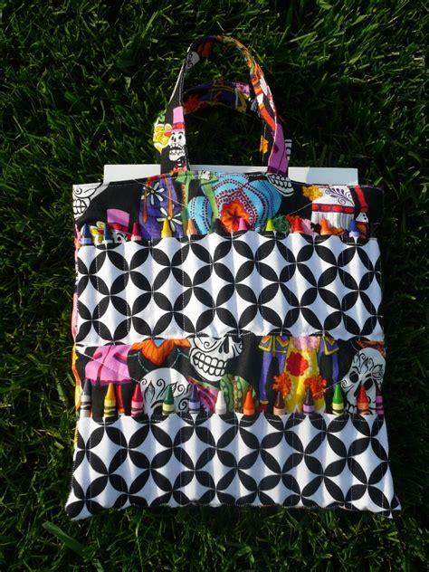 craft barn   pattern crayon tote bags