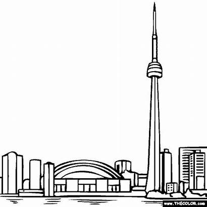 Tower Toronto Coloring Cn Pages Canada Ontario