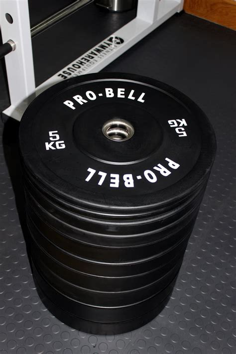 kg olympic rubber bumper plate set