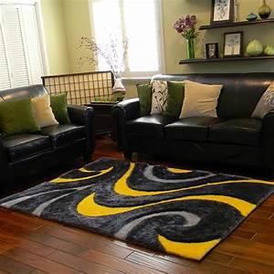 Schwarz Gelber Teppich