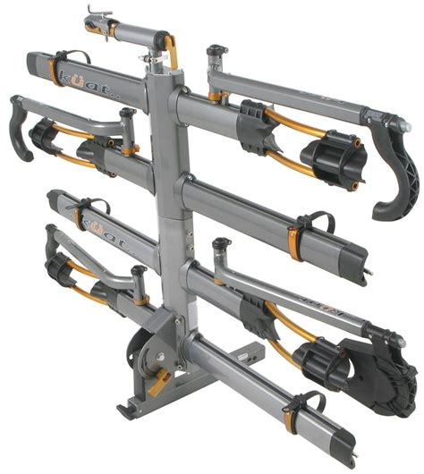 receiver hitch bike rack kuat nv 4 bike platform rack 2 quot hitches wheel mount