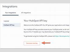 How do I deactivate and reset my HubSpot API key?