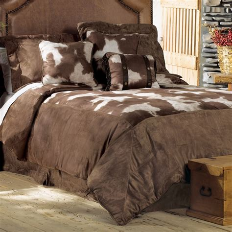 cowhide luxury microfiber bed set super queen house