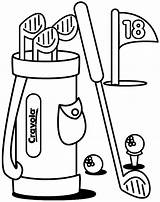 Golf Coloring Activity Ball sketch template