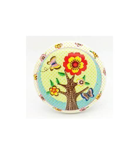 bouton de tiroir enfant bouton de meuble enfant arbre en fleur boutons mandarine