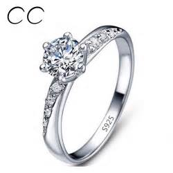 sterling diamond china aliexpress buy classic simple design white gold