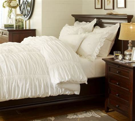 ruched duvet cover copy cat chic pottery barn hadley ruched duvet